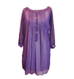 Blueberry Chiffon dress-blouse with paste gem buttons