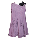 Plissé top with gem stone flowers XS purple
