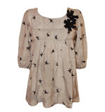 Angel print shirt blue, brown,beige S/M