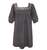 Gemstone longshirt gem applications grey S/M