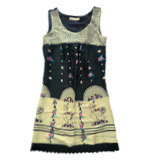 Darimeya Carousel horse print dress, black