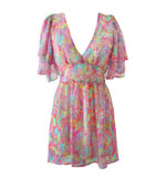Candice chiffon dress pink L
