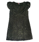 Yumi Sparkel Bubble dress black M/L
