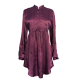 Cotton and Beach blouse dress Elisambetta plum XS-M