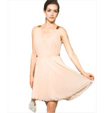 Mina Uk Ebony dress pleated peach