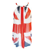 Traffic People Rule Britannia silk dress M