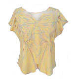 Sugarhill Boutique Butterfly Shirt Rainbow yellow M