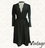 Vintage dotted dress S/M black