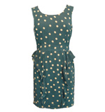 Darling  Eleanor dress dots teal green M/L
