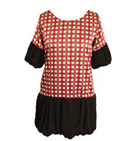 Angeleye Cassy long blouse red-black S/M