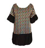 Angeleye Cassy long blouse blau-black S/M