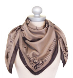 Nice Things J´aime la danse silk scarf grey