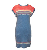 Lavand Nordic knit dress blue S-L