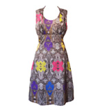 St-Martins Barbara paisley dress black XS-S