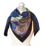 St-Martins Diamond scarf Blueprint blue