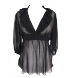 Lipsy Emily silk blouse black S/M