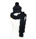 Desigual scarf, hat set fur black