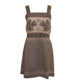 Nice Things Squirrels knitdress brown S/M