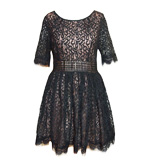 Darling Amelia lace dress black