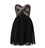 Lipsy Full on Lace Kleid schwarz Gr. M