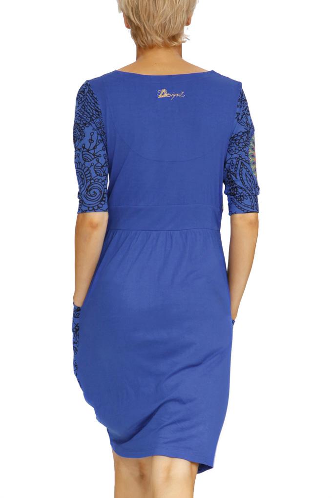 desigual omelette kleid blau s born2style fashion store. Black Bedroom Furniture Sets. Home Design Ideas