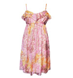 Traffic People Thrill silk dress Feather pink S-M