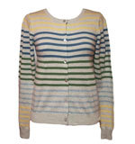 Nice Things Take Off Streifen Cardigan grau S