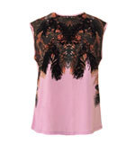 Peacock feather Top pink M