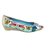 Desigual Chris Peeptoes beige-blau 37-41