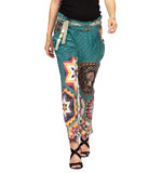 Desigual by L Blue Club silk trousers blue 28