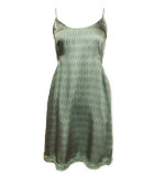 Nice Things Tribal Leave dress green S-L
