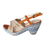 Nice Things Marrakesh wedges shoes 37-39 blue