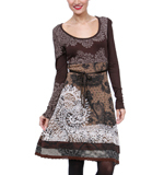 Desigual Tisdale dress cognac brown M