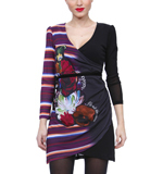 Desigual Calf dress black M