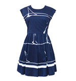 Fever London St. Ives Kleid blau S/M