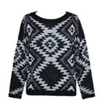 Lavand Aztec knit jumper black