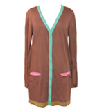 St-Martins Vision Merino cardigan brown S-M