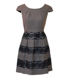 Darling Kristin wool dress grey
