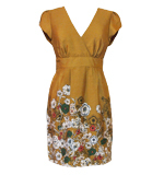 Darling Rosanna dress mustard S