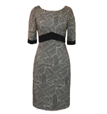 Fever London Madison Empire dress black