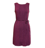 Lavand Burgundy knit dress red