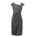 Fever London Washington dress Herringbone grey M/L