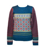 Nice Things Jacquard jumper indigo blue S