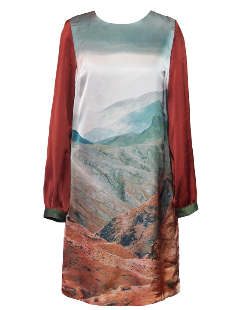 Nice Things Volcanic Land Dress Brown S Born2style