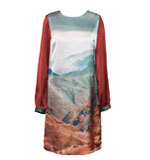 Nice Things Volcanic Land Kleid braun