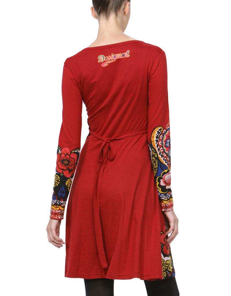 Desigual Persians Kleid borgona rot M