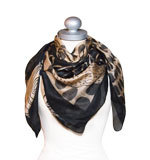 St-Martins Wonder silk scarf black