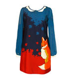 Yumi Portia Fox dress blue M