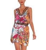 Desigual by L Well dress green azul plomo M