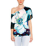 Desigual Floreada T-shirt blue